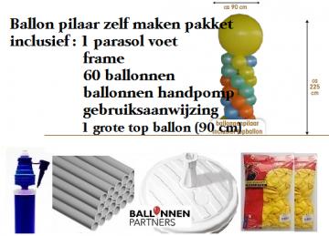 Ballon pilaar zelf maken pakket ballon pilaar zelf maken for Ballonnen decoratie zelf maken