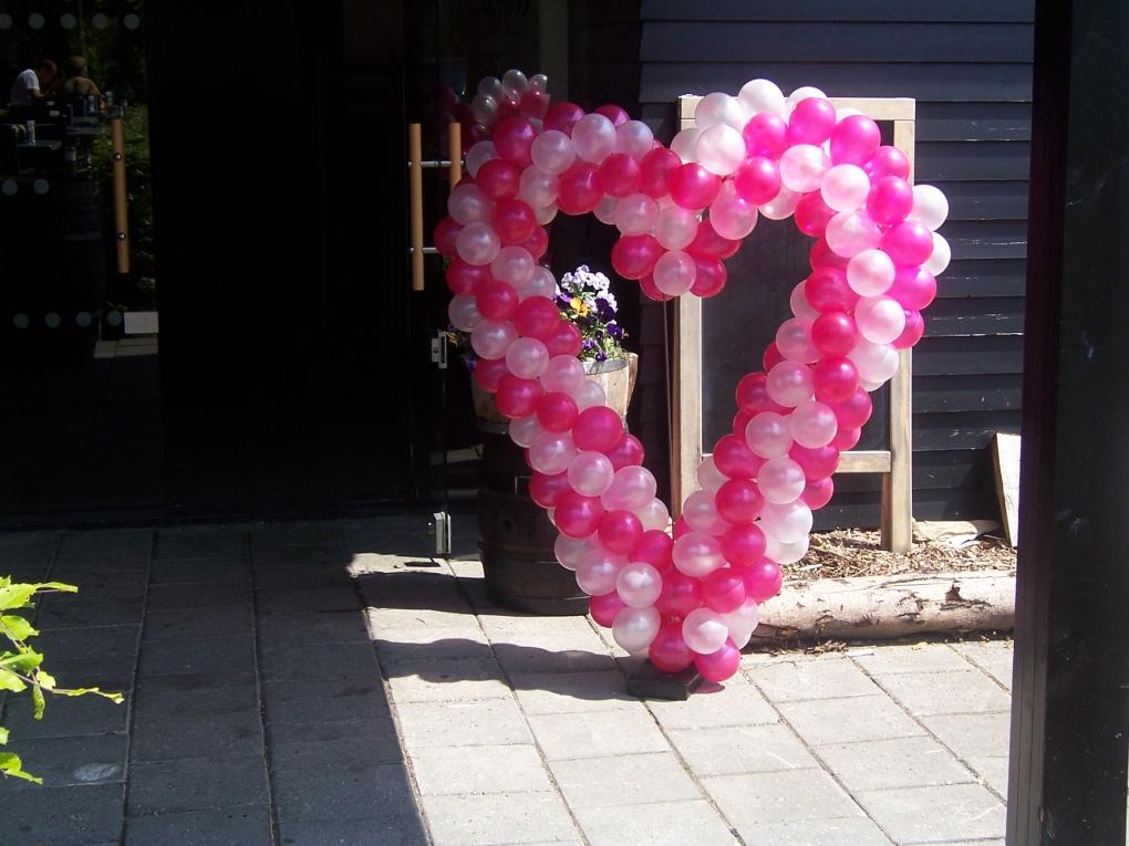Ballonnen hart ballonnen decoraties ballonnen helium for Ballonnen decoratie zelf maken