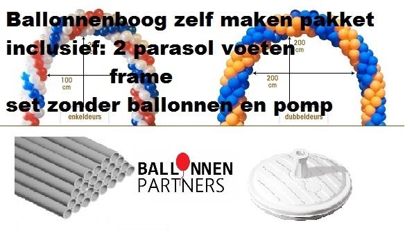 Ballonnenboog zelf maken pakket zonder ballonnen for Ballonnen decoratie zelf maken