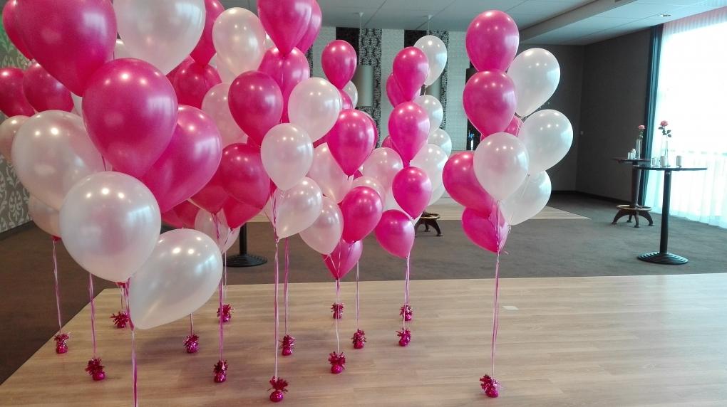 Wonderbaar helium ballon trosjes v.a.€ 6,95 - ballonnen decoraties FB-08