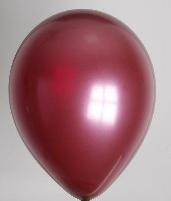ballon burgundy metallic